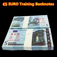 Wholesale 100PCS EUROS BANKNOTES Banks Staff Training Collect Learning Banknotes Christmas Arts Gifts Home Arts Crafts