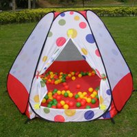 Wholesale Hot Sale Kids Safe Polka Dot Octahedral Baby Playpen Indoor Ball Pool Play Tent With Basket Safety Mesh Baby Play