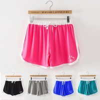 Wholesale Female Tennis Clothes Sports Panty Candy Color Casual Shorts Increased Points
