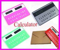 1600x1200 big plastic pockets - stationery credit card portable calculator mini handheld ultra thin Card calculator Solar Power Small Slim Pocket Calculator