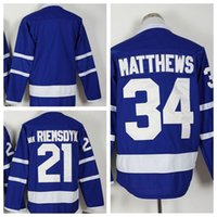 Wholesale Blue Auston Matthews Jerseys New Season Men s Hockey Jerseys Stitched Hockey Wear Top Quality Athletic Outdoor Apparel