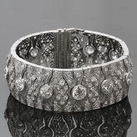art deco filigree bracelets - Magnificent Art Deco Diamond Platinum Filigree Bracelet
