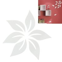 azaleas plants - Creative D DIY Wooden Leaves Sims Azalea Stereoscopic Removable Wall Stickers Set White Color HDE_002