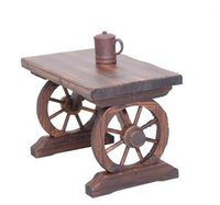 Wholesale The Wheel Wooden Table Garden Wooden Table Outdoor Table living Room Desk