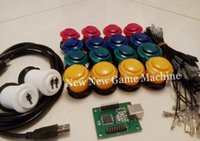 arcade usb interface - With XMicroswitches Arcade Push Buttons Kits USB Interface encoder board DiY Bundles Set For Building Game Machine