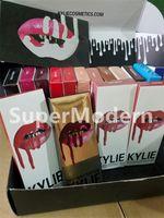 Wholesale 15 Colors KYLIE JENNER LIP KIT Latest Kylie Lip Velvetine Liquid Matte Lipstick Lip Gloss With Liner Lip Gloss Liquid Matte Lasting