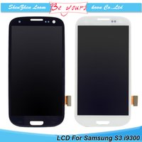 Wholesale S3 Display Screens - LCD Display with Touch Screen without Frame Assembly Replacment For Samsung Galaxy S3 i9300 i9308 i9305 T999 i535 I747 DHL Free Ship