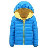 baby ski jackets - 2016 New Winter Baby Clothes Fashion White Duck Down Hoodies Boys Girls Down Coat Outdoor Warm Windproof Ski Children Kids Jackets Blue Red