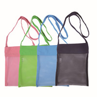 Wholesale in extra large sand away beach mesh bag Children Beach Toys Clothes Towel Bags baby toy shell collection bag C0075