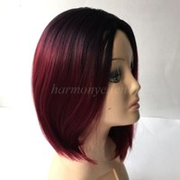 best haircut - ombre synthetic wigs burgundy short bob wigs cheap synthetic sexy female short haircut wigs best natural looking women wigs cosplay