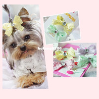 bb hair products - New Dog hair accessories acrylic diamond butterfly hairpin clip BB pet duck korean pet products pet grooming