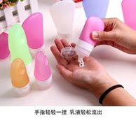 Wholesale AMAZON Best Selling Size Silicone Cosmetic Points Bottling silicone packing bottle Lotion Shampoo Bath Shower Gel Tube Container Travel Pa