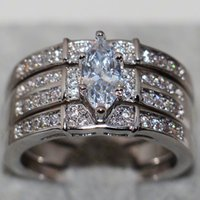ancient sets - Wedding Ring Set For Women Restoring Ancient Ways of Fashion White Gold AAA CZ Simulated Diamond Party to send Girlfriend
