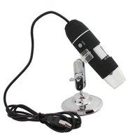 50-500x 2MP 8 USB Microscopio cámara de inspección Lupa LED electrónico digital con soporte del metal para joyería sello EGS_146 Biológica