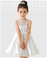 Wholesale 2016 European and American wine red flower girl dresses dark green dress children princess dress