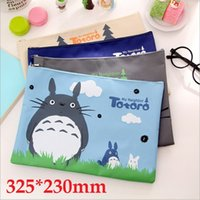 Wholesale mm New Japan Cartoon Totoro cat series Canvas File bag Cosmetic Bag file product office supplier styles