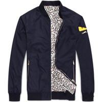 Wholesale 2017 Men s Demon monster eyes Jacket Flight Zip Black Blue Coat Outwear hip hop baseball jackets