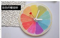 antique kitchen sets - Lemon Creative DIY Acrylic Wall Clock for Kitchen Study Home Living Room Decoration