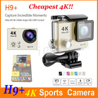 Wholesale H9 Plus Action Camera K fps Gopro hero Style inch LCD Screen Wifi MP Waterproof P full HD pfs Sport Camera Retail box cheap