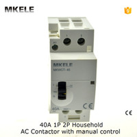Wholesale P NO A Household AC Contactor Manually Switch pole Normally Open Architecture contator