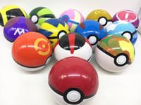 Wholesale 2016 New cm pokeball pokémon go poke figures For Cosplay Plastic Poke Ball Manga Toy for kid DHL