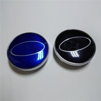 Wholesale 60mm Blue Wheel Center Cap for Subaru Brand New ABS Chrome Black Wheel Center Hub Cups