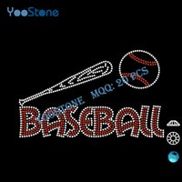 baseball bats prices - Good Price Rhinestone Transfers Baseball And Bat Iron On Rhinestone Motif For Sports Clothing