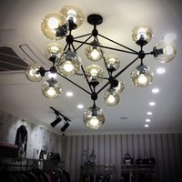 ball chain stores - The designer s creative art lighting lamp Nordic restaurant clothing store room personality glass ball Beanstalk Chandelier