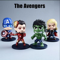 Wholesale 2016 New The Avengers Figures Cute Iron Man Captain America Hulk Thor Model Toys Environmental Pvc Toys Gifts For Children