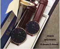 Wholesale 2016 black face dw watch top brand Daniel Wellington watches luxury style dial table mm men mm women watches Quartz Wristwatch with box