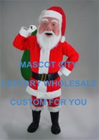 advertising professionals - Santa Claus Mascot Costume Adult Size Professional Mascotte Costume Outfit Suit for Winter Advertising SW640