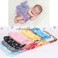b photography - Newborn Baby cm Photography Props Blanket Lace Wraps Stretch Cover Children Print Flower Hammock Swaddling Wraps Z342 B