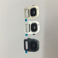 Wholesale New Camera Glass Lens Cover for Samsung Galaxy S7 S7edge With Real Glass Replacement Part free DHL