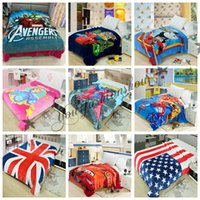 america blanket - 93 Designs Avengers Spiderman Minions Paw Frozen Princess Sofia Captain America Pooh Mickey Superhero Batman KT Blankets M100