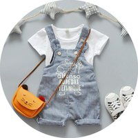 baby select boy - 2016 new children suit baby boys overalls summer short sleeved suit infant summer children s clothing with yellow and blue can be selected