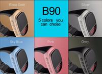 Wholesale B90 Mini Bluetooth Speaker Smart Watch Speaker Wireless Subwoofers Speaker With Screen Support TF FM USB from daigua888