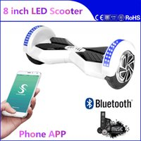adult power wheels - Super Power Phone APP Hoverboard Bluetooth Balancing LED Scooter inch Two Wheels Electric Scooters Balance Wheel Smart Skateboard Adult