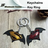 Wholesale Fashion Newest Superman Batman War Keychains Bag Accessories Metal Key Chain Unisex Key Ring Pendant Keychain
