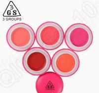 Wholesale 5 color LJJK375 gs Multi fuctions blusher lipsticks eyeshadow Professional Cosmetic Cheek Blush Blusher Rouge Powder Palette
