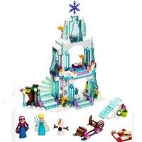 Wholesale New Arrival Princess Castle Building Blocks Anna Elsa Educational Brick Ice Castle Play Set Gift For Girl