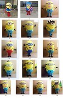 Wholesale New Minions Despicable Me Mascot Costume EPE Fancy Dress Outfit Adult All