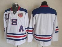 authentic olympic hockey jerseys - 2010 Olympic Team USA Hockey Jersey blank White Ice Hockey Jerseys Cheap Stitched Authentic Sport Jersey drop shipping