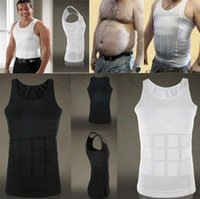 Wholesale DHL Men s Sexy Slimming Tummy Body Shaper Belly Fatty Thermal slim lift Underwear Men Sport Vest Shirt Corset Shapewear Reducers Men s
