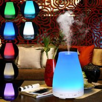 Wholesale 100ml Essential Oil Aroma Diffuser Mist Fresh Air Spa Aromatherapy Ultrasonic Humidifier with Color LED Lights Changing