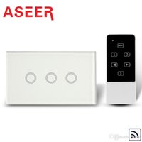 Wholesale Aseer Brand US Standard touch Screen Glass Panel Gang Remote Control Smart WIFI Switch with blue LED backlight AC110 V