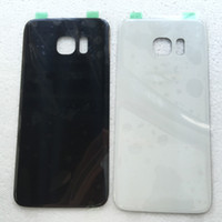 Wholesale for OEM Samsung Galaxy S7 edge G935 Battery Glass Back housing Cover w Sticker black white