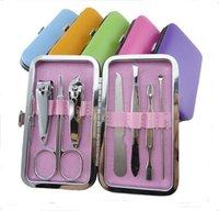 Wholesale Manicure set nail care set nail scissors manicure tool bag manicure kit set Nail Art Salon Manic with