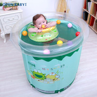 bath tub lifts - European culture baby swimming pool can lift support children swimming pool extra large family thickened baby bath tub