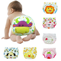 Wholesale New Arrival Cartoon Lovely Embroidery Baby Diapers Covers Infant Girls Boys Cotton Nappy Underpants Training Pants