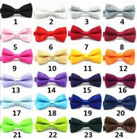 baby business suit - Classic Kid Suit Boy Baby Fashion Classic Solid Color Adjustable Bowtie Red Black White Green Children Bow Tie b434